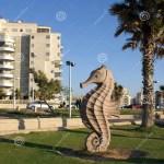City Sculpture Seahorse Editorial Stock Image Image Of Urban 120136939