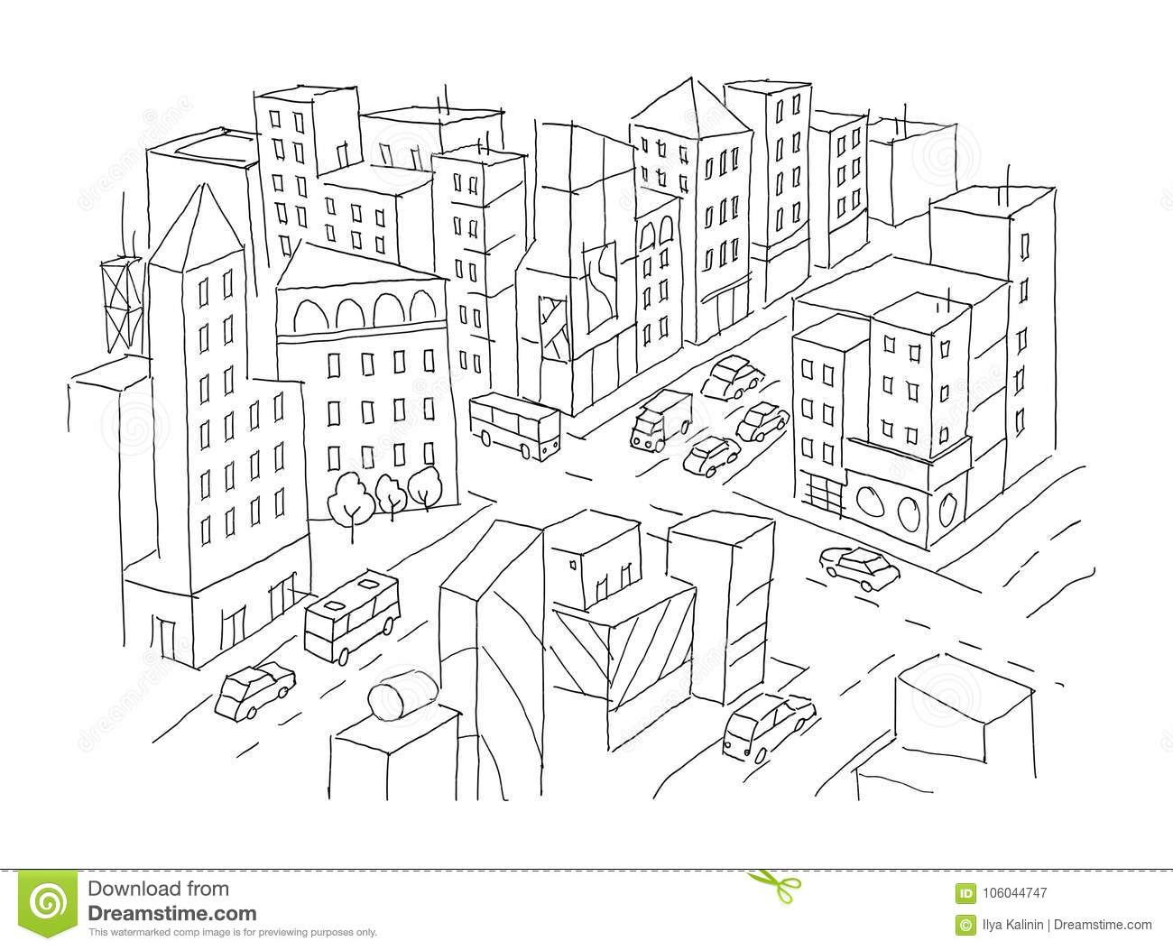 Intersection Cartoons, Illustrations & Vector Stock Images
