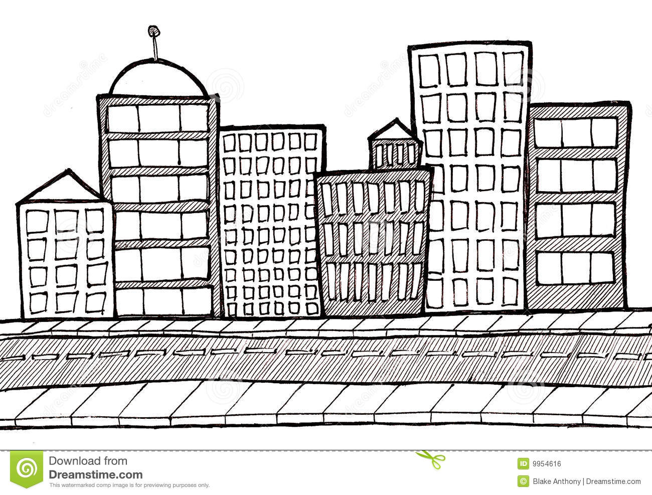 hight resolution of cityscape street and sidewalk