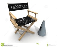 Clapperboard Over Director Chair Break Stock Photo - Image ...