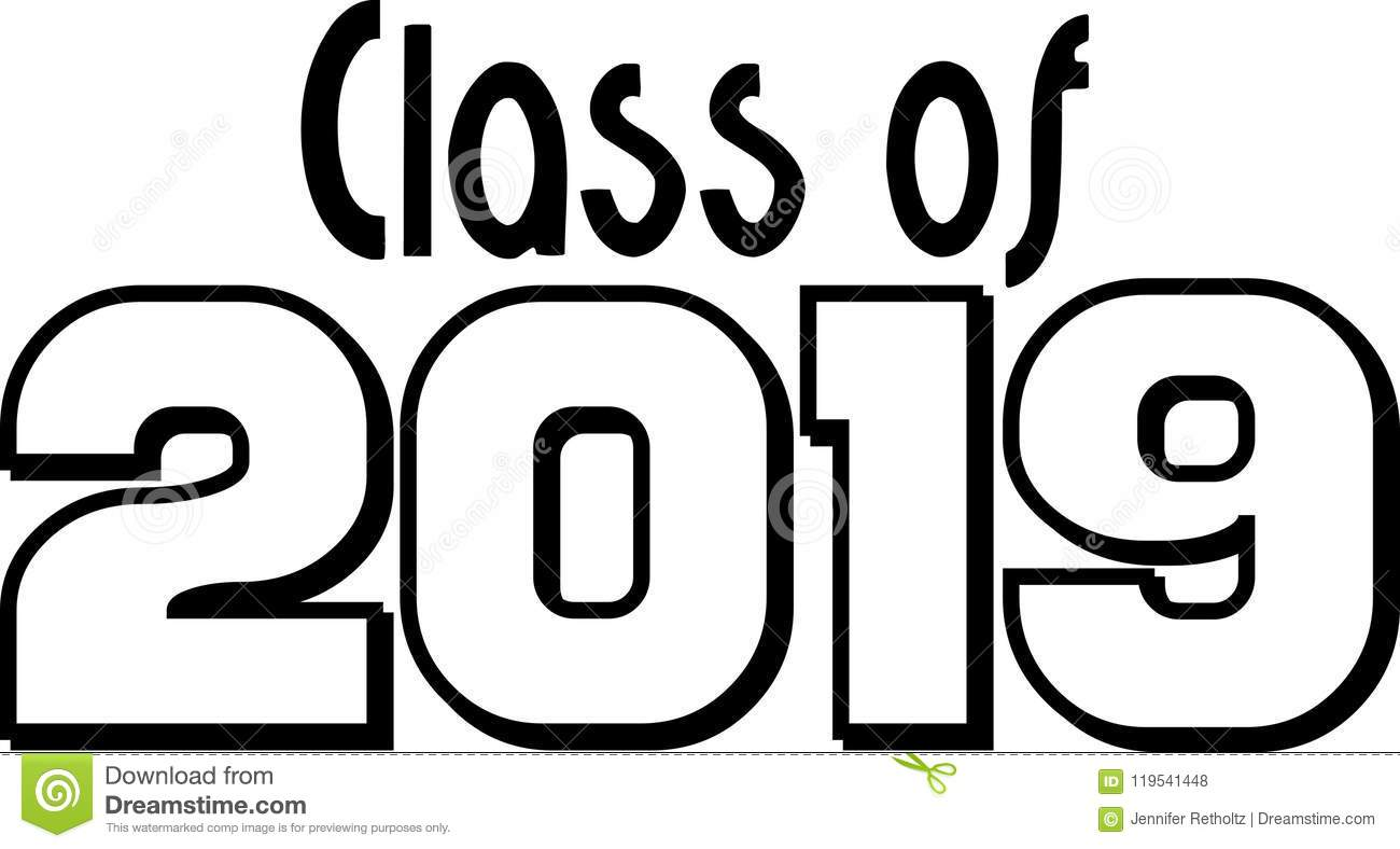 Class Of 2019 Block Letters Stock Illustration