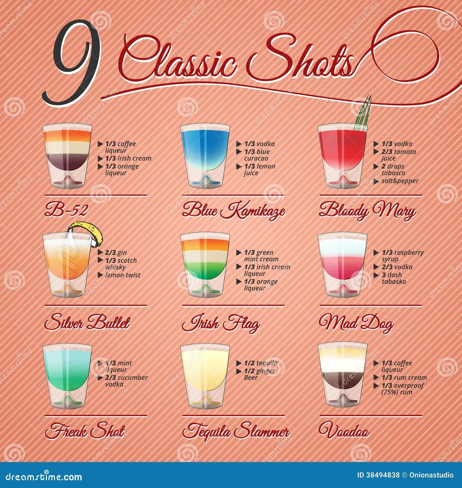 alcohol shots recipes classic alcohol shots set