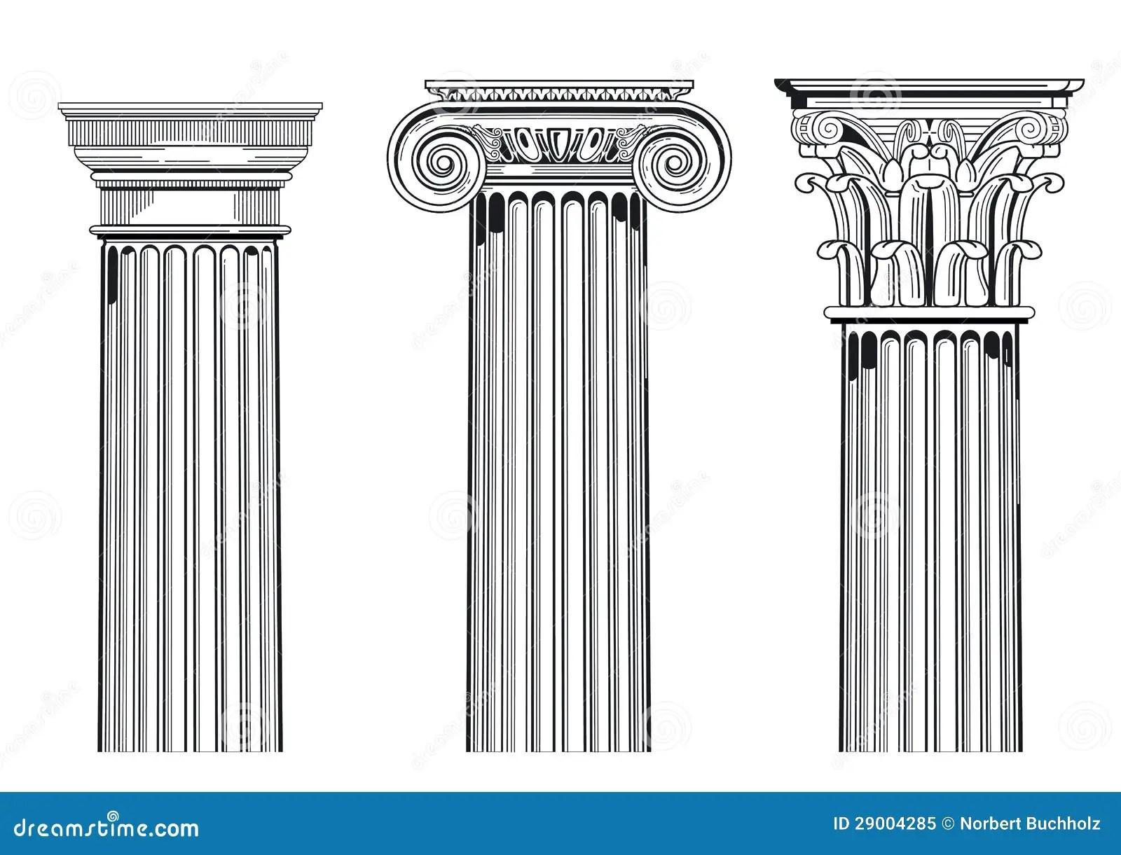 Classic Architectural Columns Stock Vector