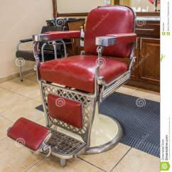Old School Barber Chair Wingback Accent Blue Classic Royalty Free Stock Photo