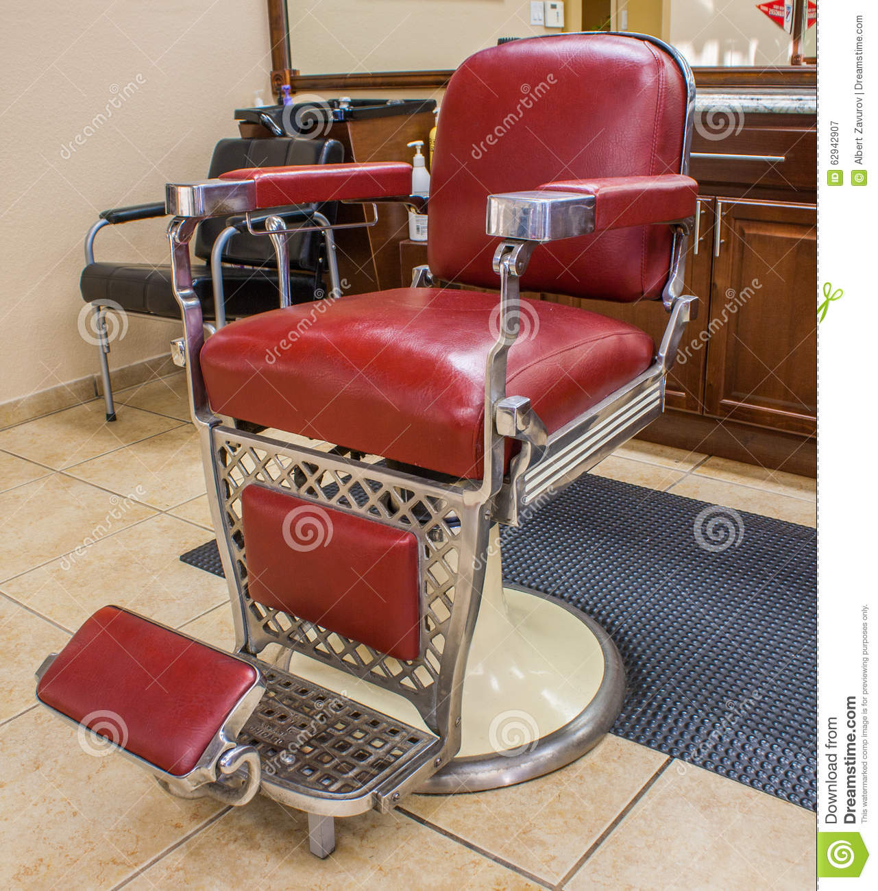 Old School Barber Chair Classic Barber Chair Royalty Free Stock Photo