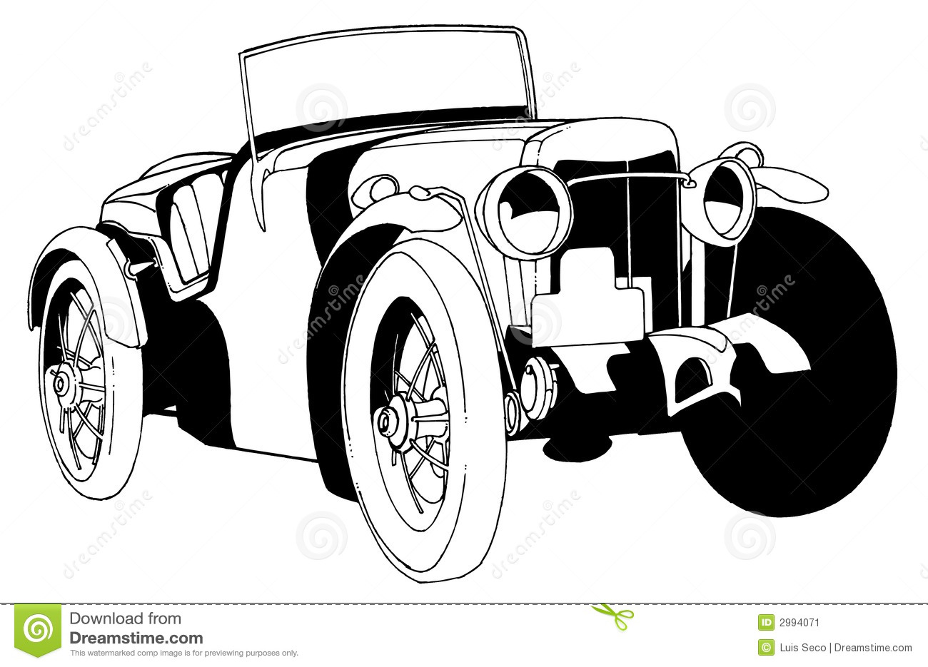 Classic Car Stock Vector Illustration Of Luxury Clean