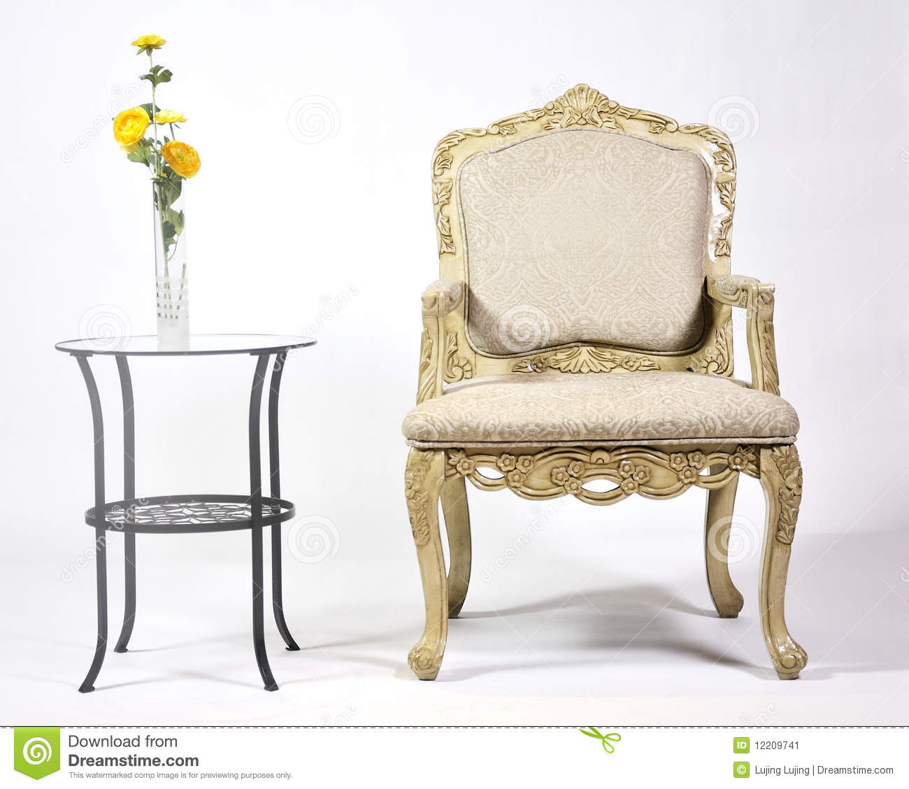Classic Chair Classic Chair Stock Image Image Of Vacancies Rendered 12209741