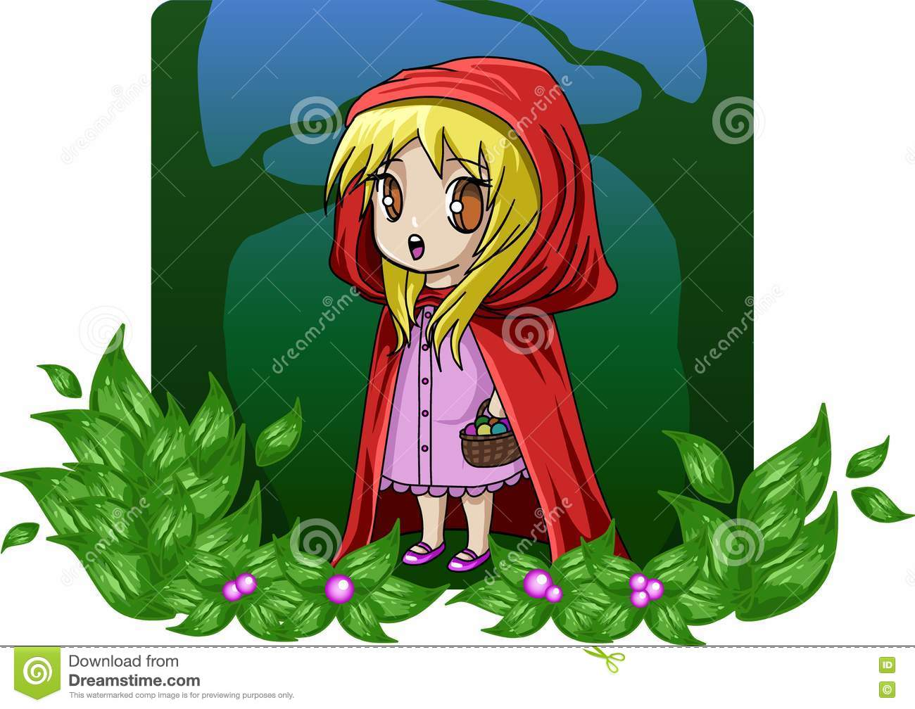 girls room chair wood outdoor classic children's stories - red riding hood stock illustration image: 17212703