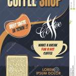 Classic Coffee Shop Poster Template Design Stock Vector Illustration Of Background Warm 106773394
