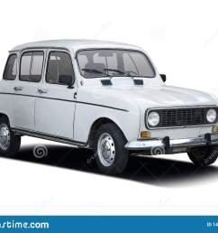 classic french car renault 4 on white [ 1600 x 1188 Pixel ]