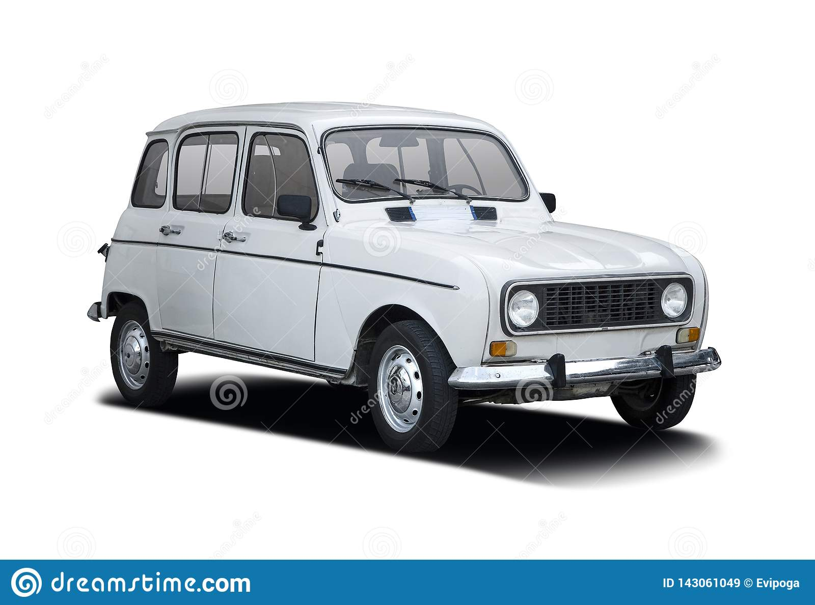 hight resolution of classic french car renault 4 on white