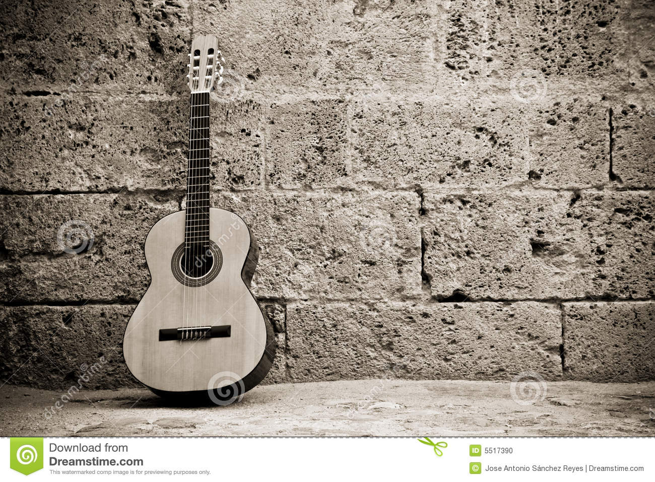 String Quotes Wallpaper Classic Guitar On Wall Stock Photo Image Of Equipment
