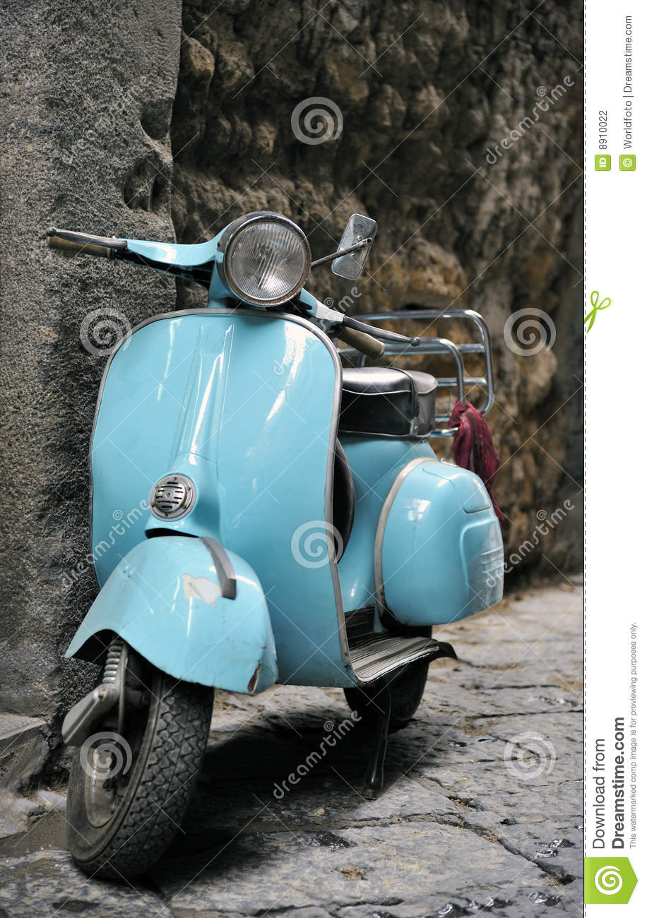 Classic Italian Scooter Stock Photography Image 8910022