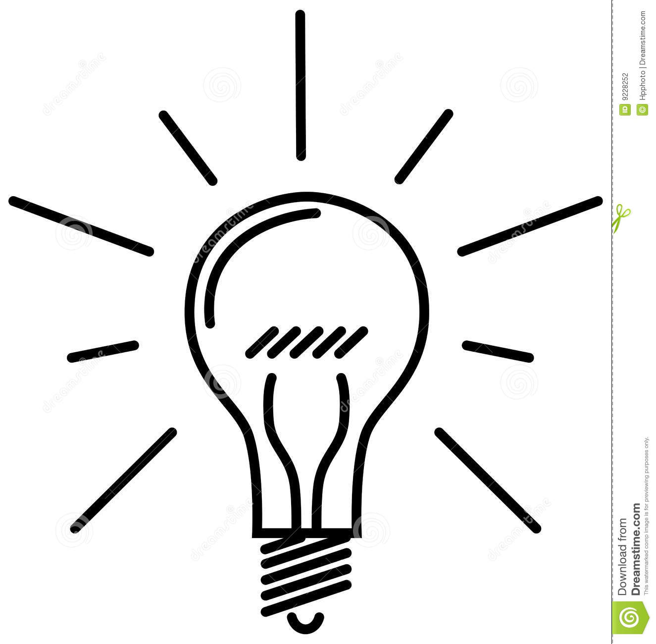 Classic Light Bulb Stock Vector Image Of Conscious Brain