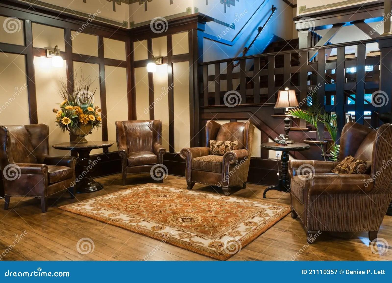 Classic Luxury Hotel Lobby stock image Image of floor