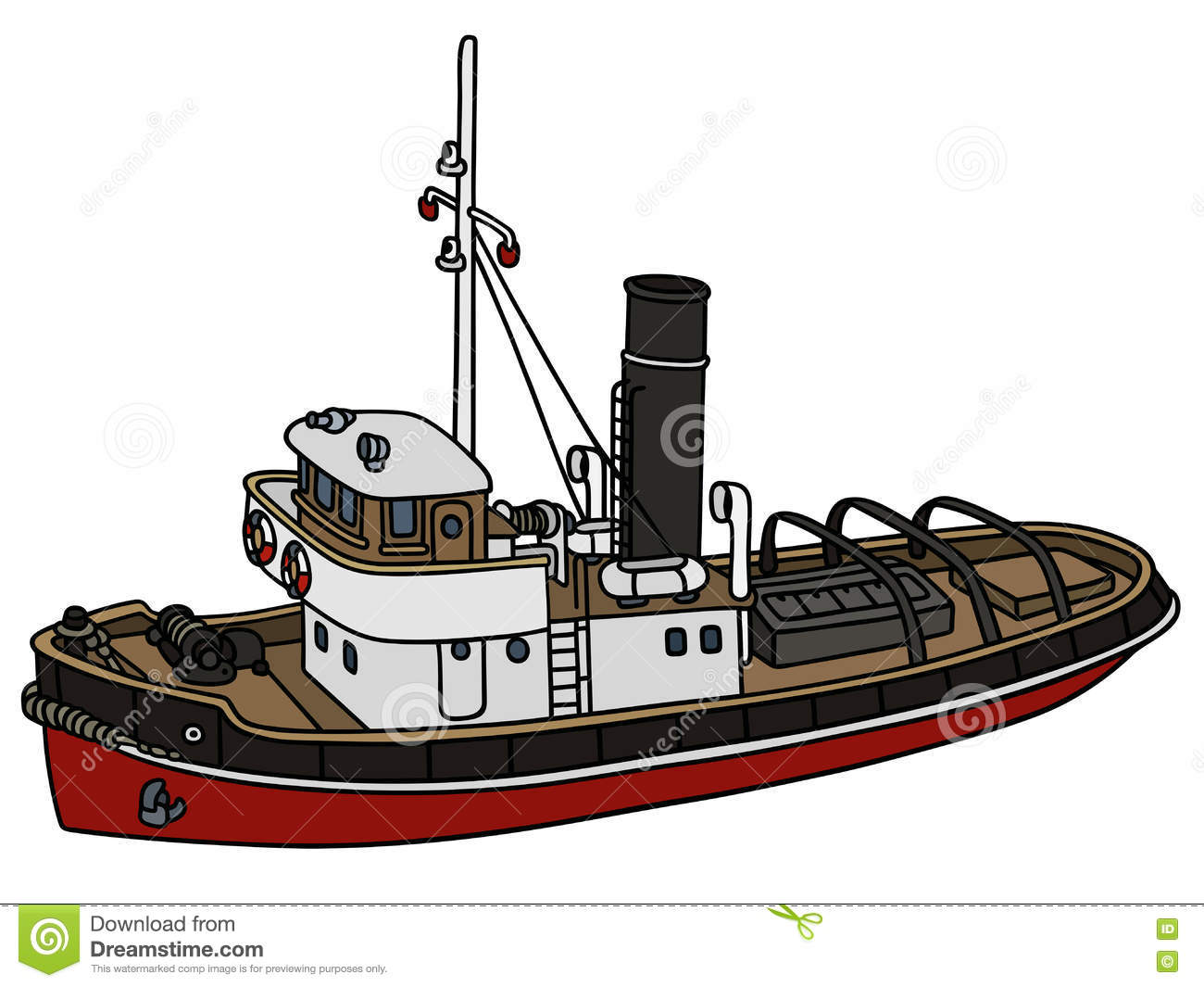 hight resolution of classic tugboat illustrations vectors