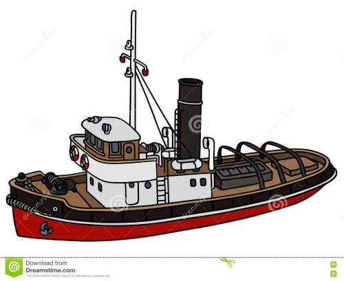 small resolution of classic tugboat illustrations vectors