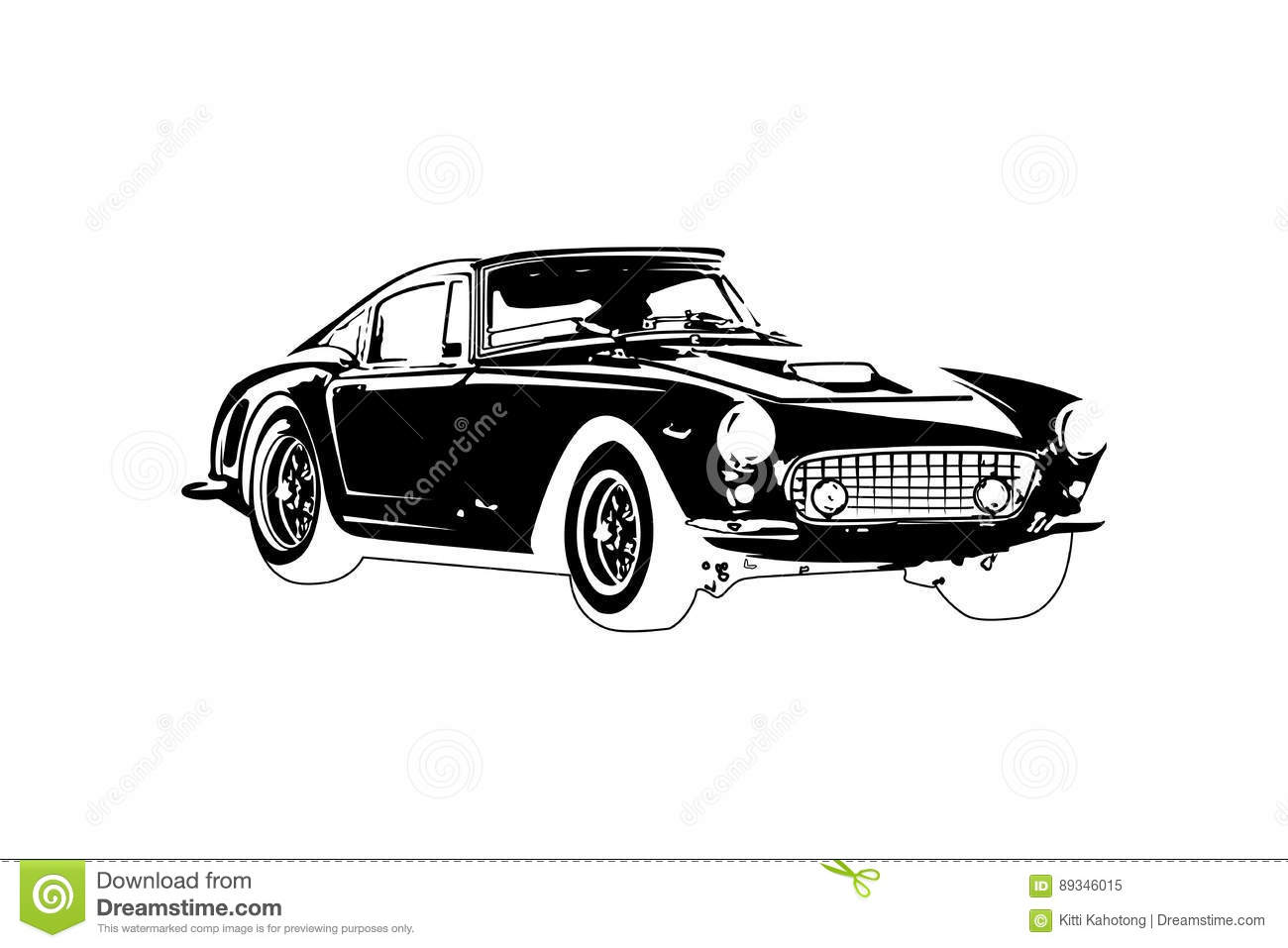 Classic Vintage Retro Car Design Stock Illustration