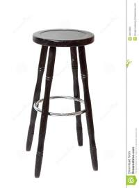 Classic wooden bar stools stock photo. Image of cutout ...