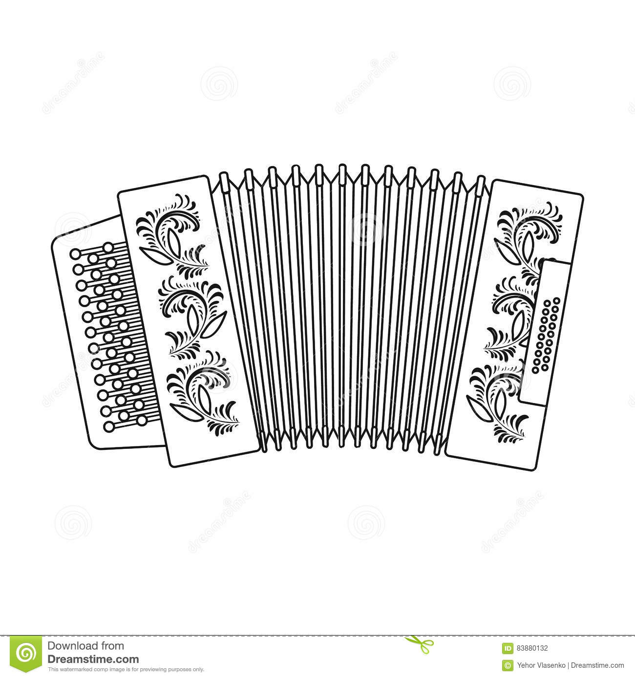 Old Musical Instrument Russian Bayan Stock Photography
