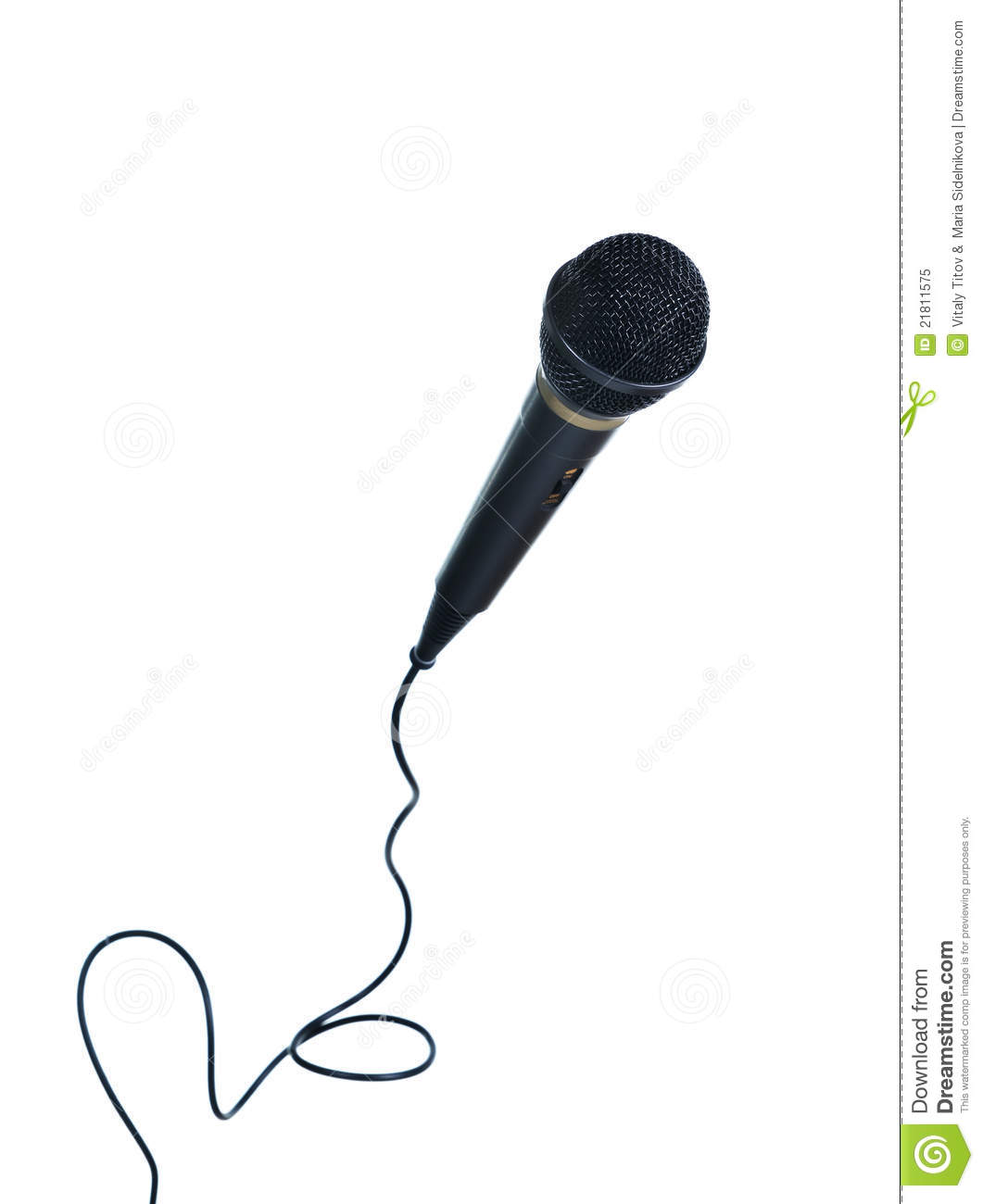 Classical Microphone With Wire Stock Image