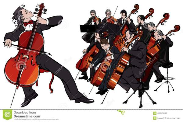 classical orchestra stock vector