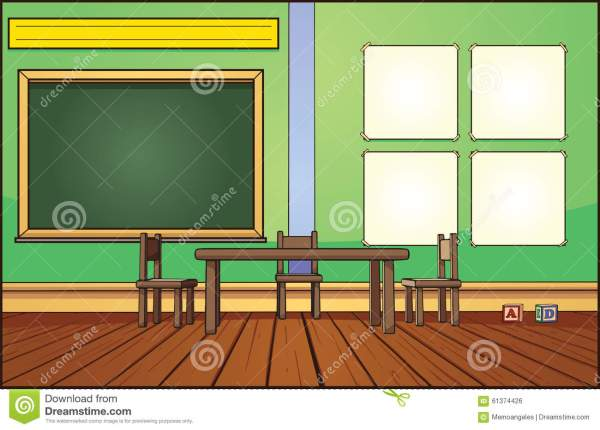 Classroom Background Stock Vector. Illustration Of Chalkboard - 61374426