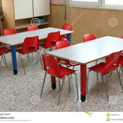 Teacher Table And Chair Bamboo Rocking Classroom With Small Chairs In Kindergarten