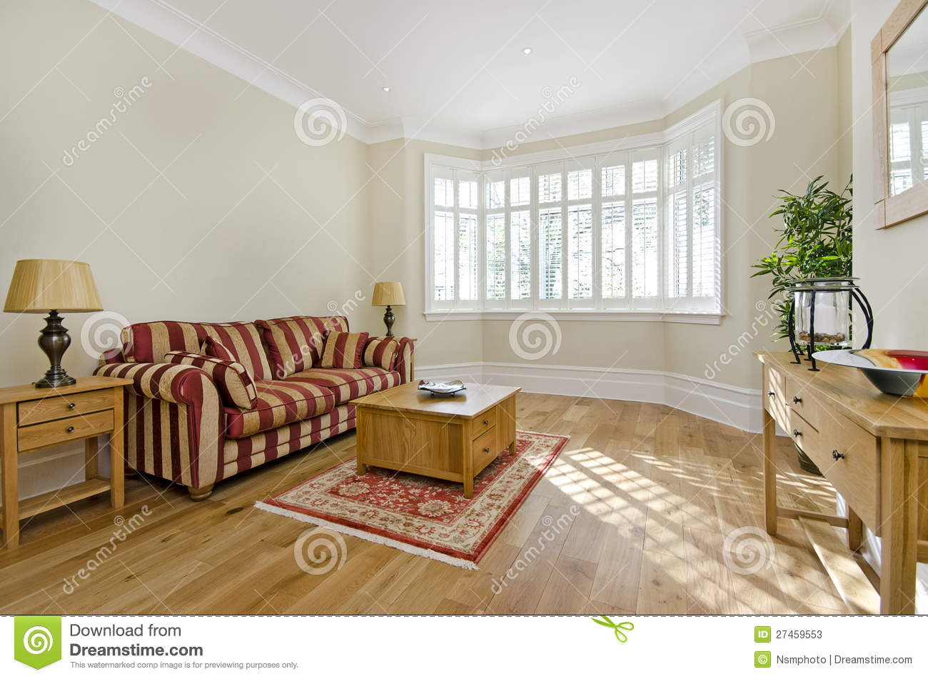 Classy Living Room With Nice Furniture Stock Photos