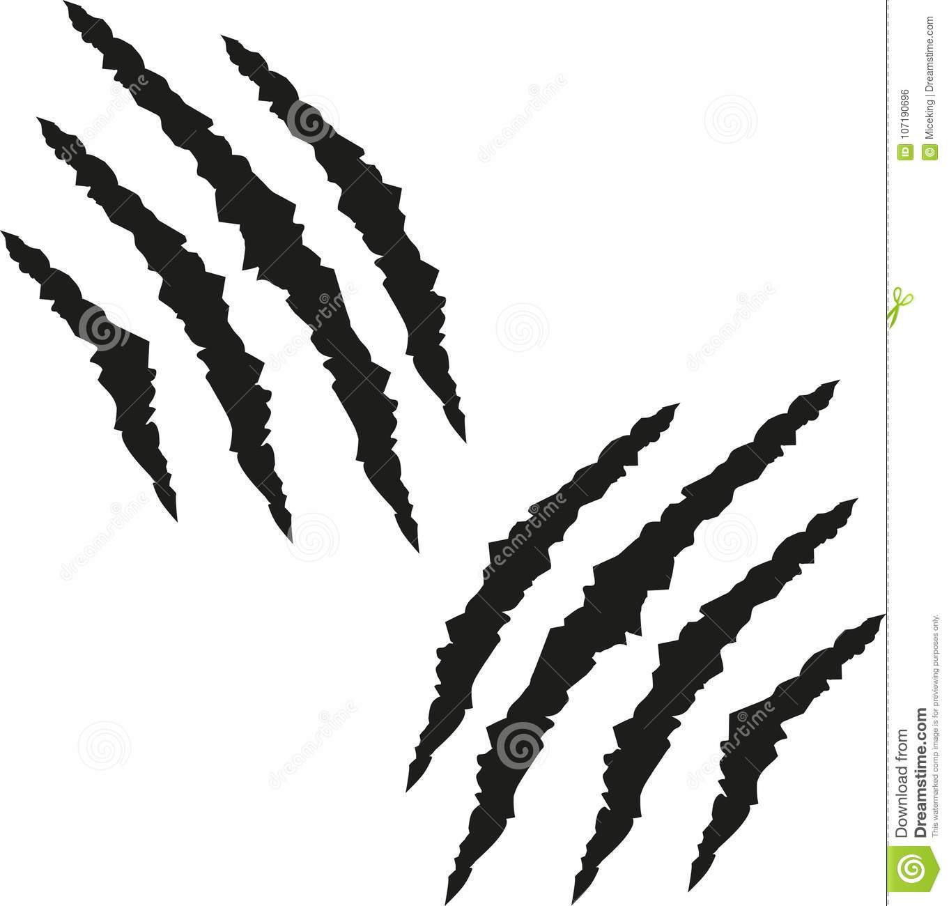 hight resolution of claw marks stock illustrations 194 claw marks stock illustrations vectors clipart dreamstime