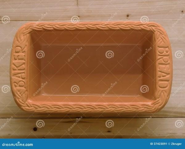 Clay Bread Baking Pan Stock Of Rustic