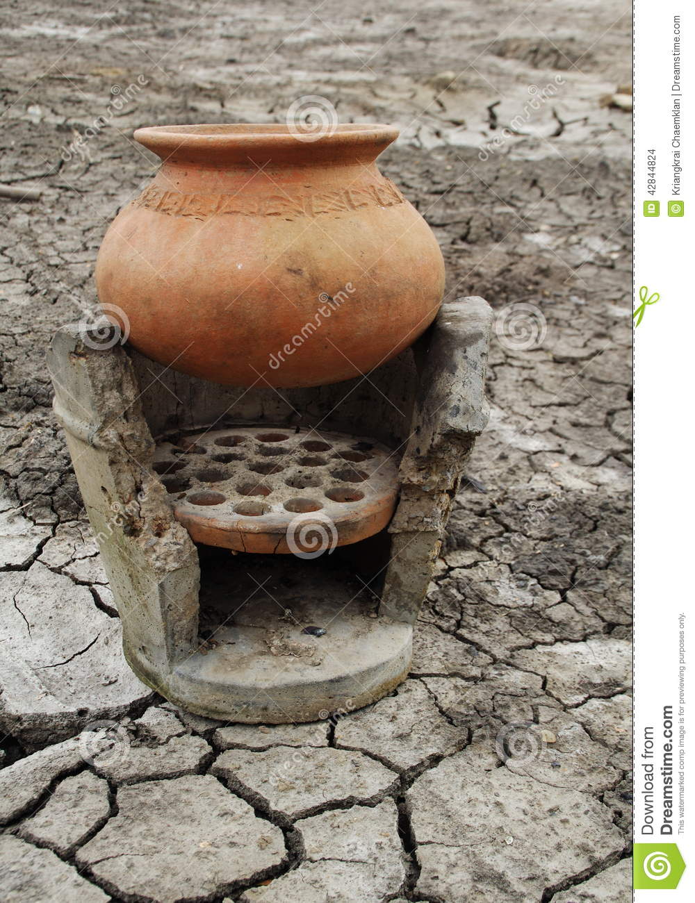 Clay Pot and Ancient Stove stock photo Image of clay  42844824