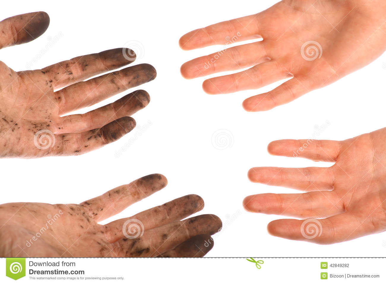 Clean Dirty Hands Stock Photo Image Of Filthy Hand