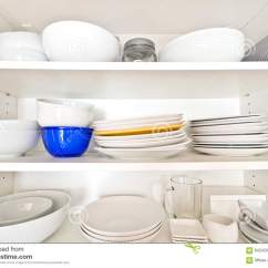Kitchen China Dishes Bistro Table Clean In The Cabinet Stock Photo Image Of Dinner