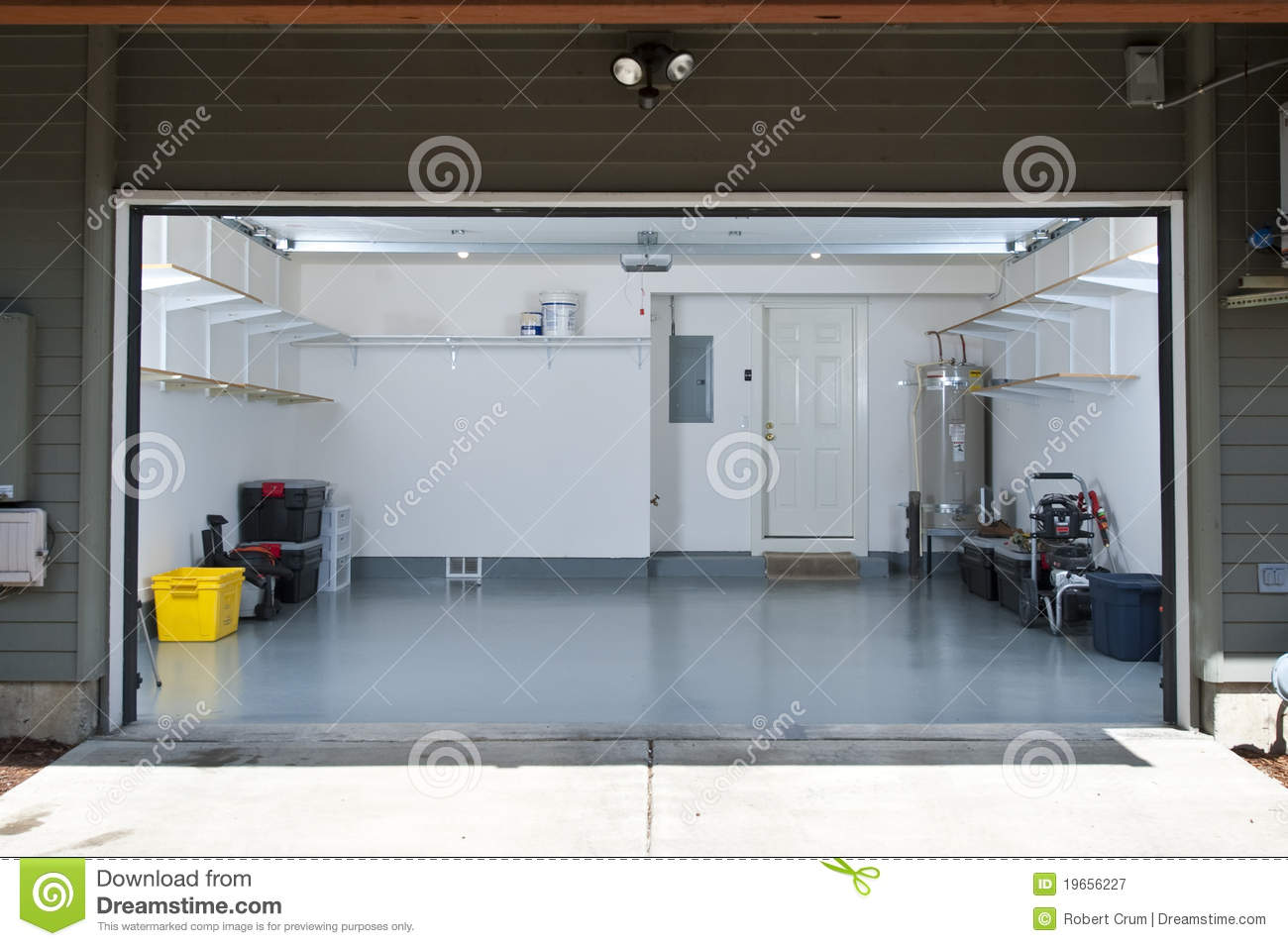 Clean garage stock image Image of construction white  19656227