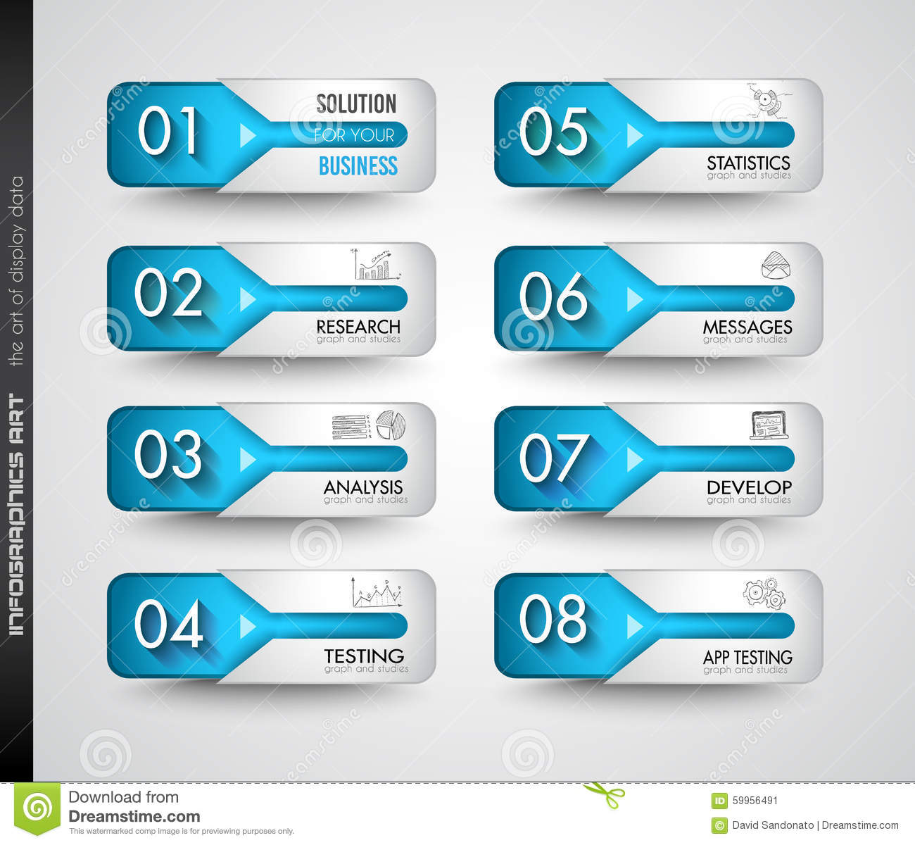Download Clean Infographic Layout Template For Data And Information Analysis  Stock Vector - Illustration Of Ideal