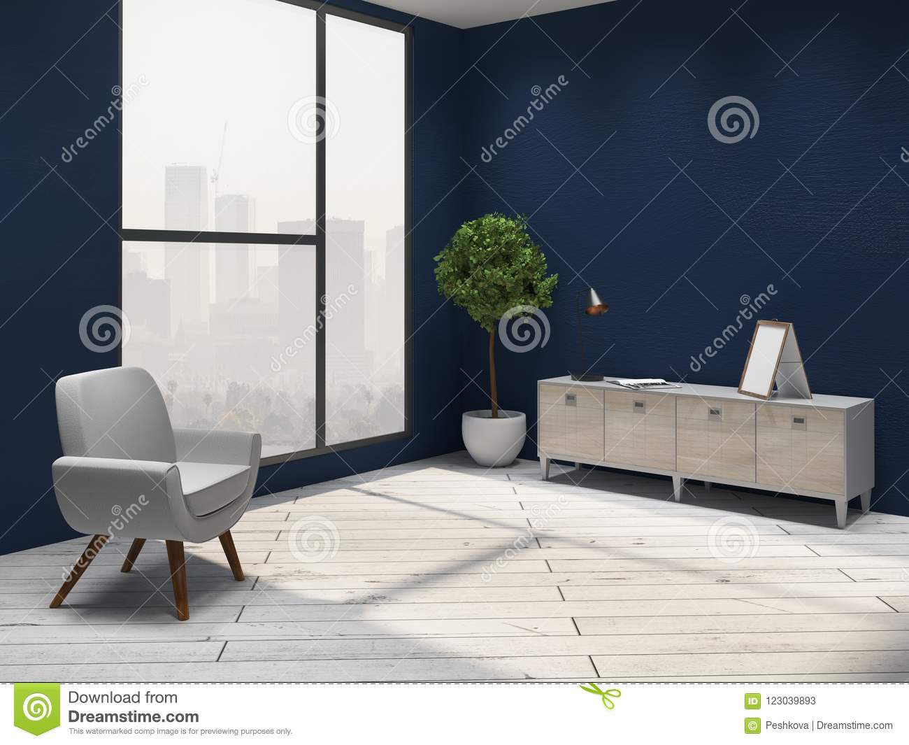 clean living room modern paint colors for interior stock illustration of