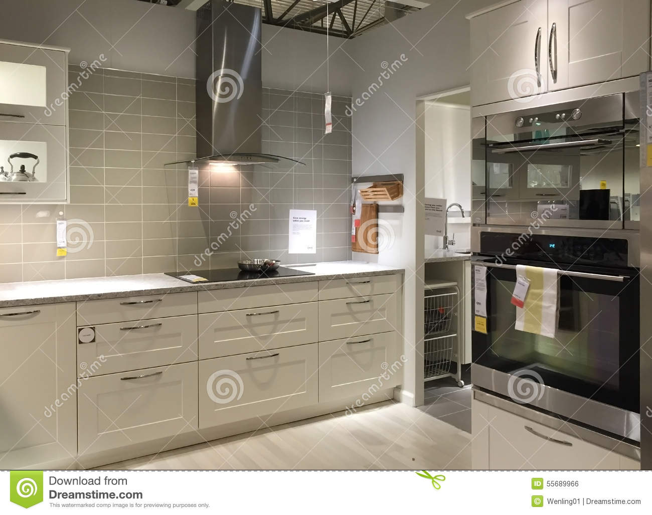 kitchen design stores 32 inch undermount sink clean and neat modern background editorial photo image of at store ikea usa