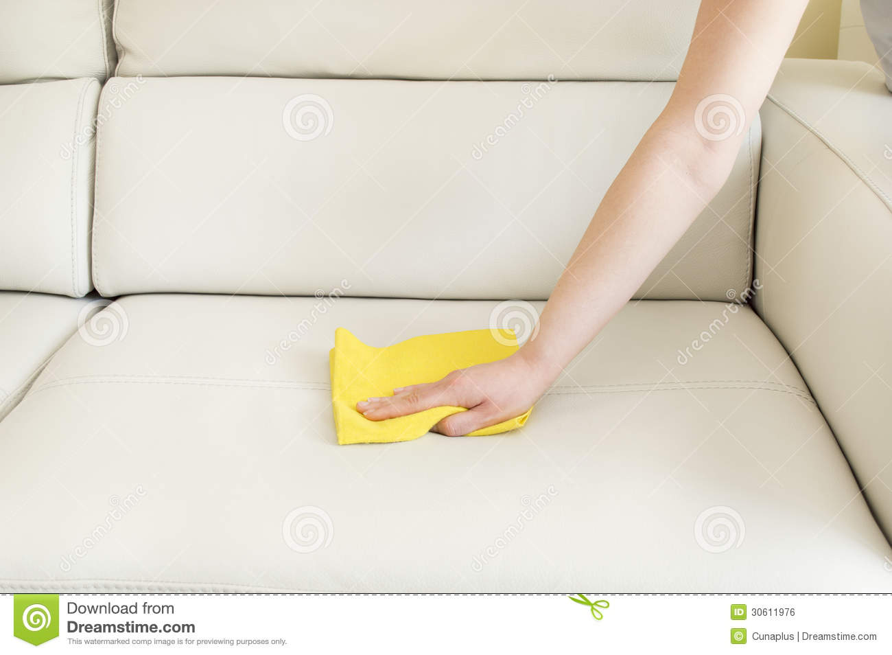 how to clean dirty white leather sofa 3 seater black bed cleaning royalty free stock image