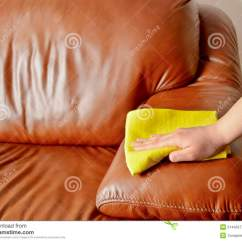 How To Clean Dirty White Leather Sofa Janet Reversible Chaise Cleaning Royalty Free Stock Image