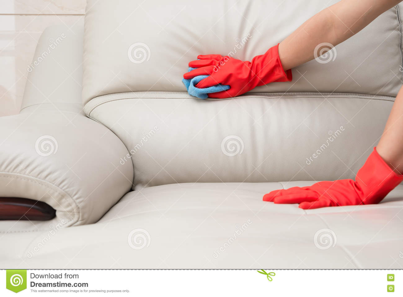 clean a leather sofa score interpretation cleaning royalty free stock image