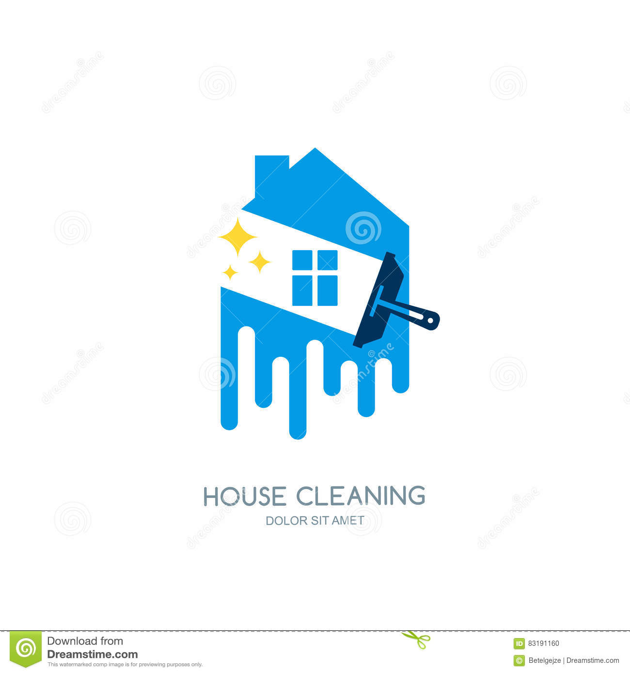 Cleaning Service Logo Emblem Or Icon Design Template