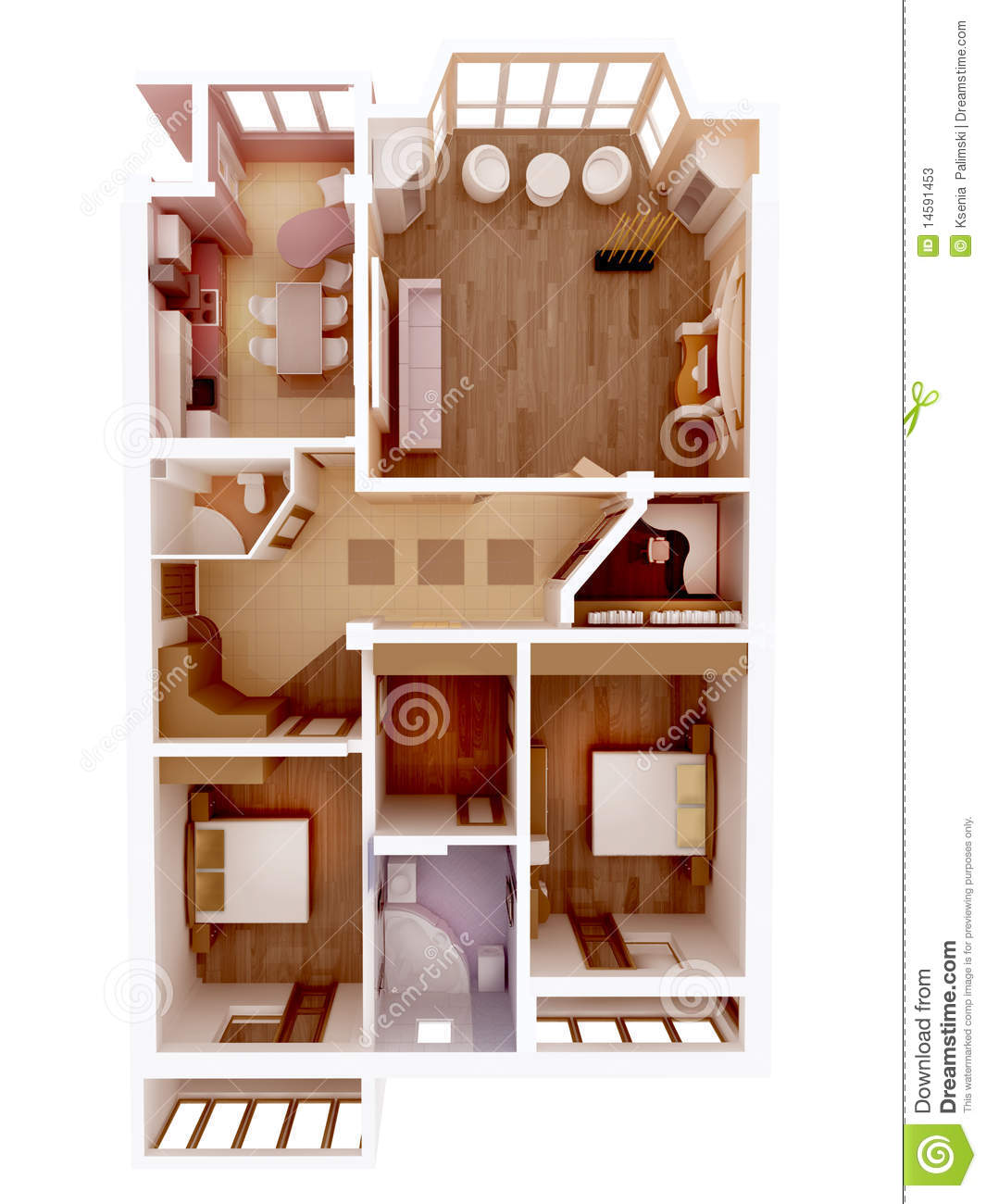 Bedroom House Blueprint