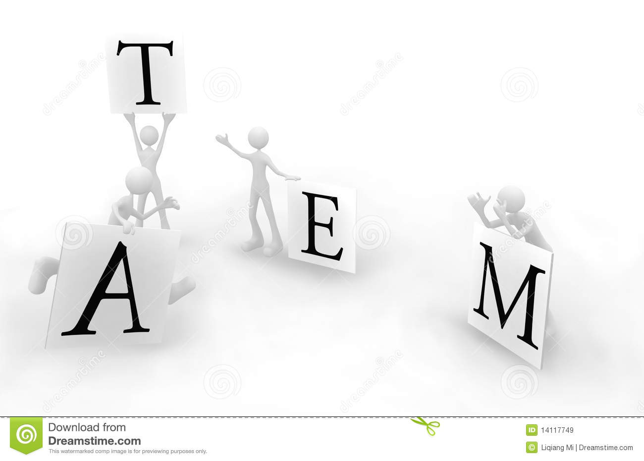Clear Division Of Labor Team 1 Stock Illustration