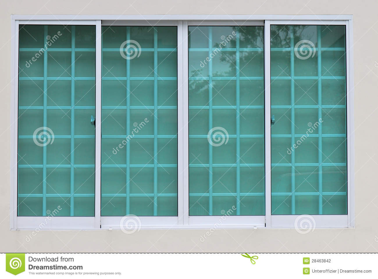 Clear Green Window Glass Stock Photography  Image 28463842