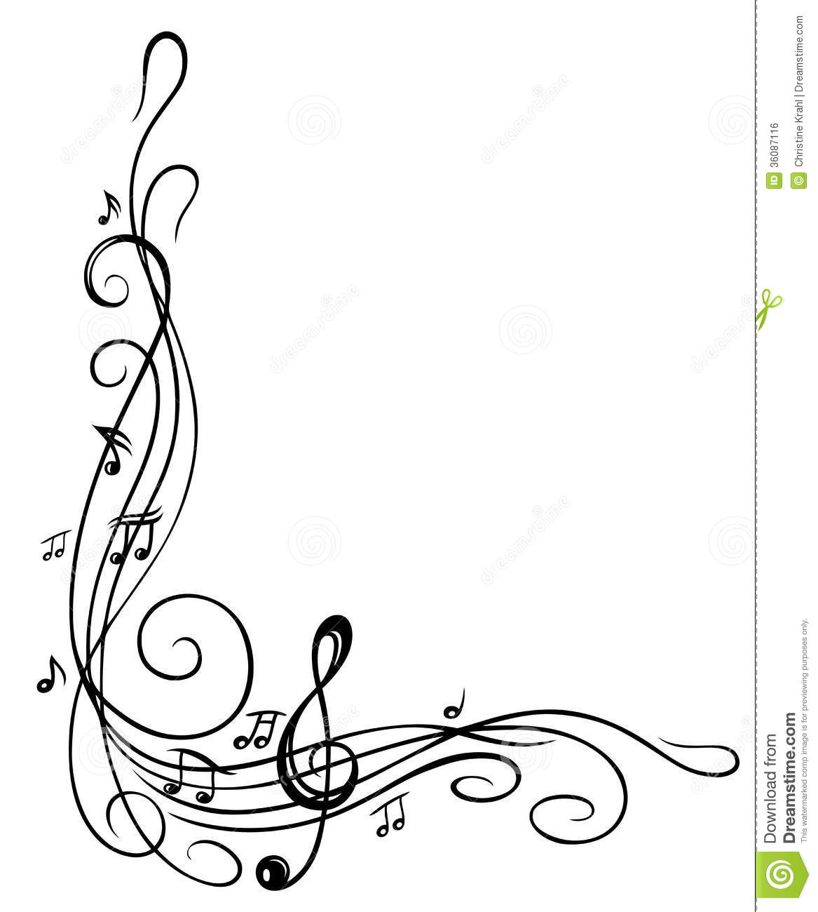 Clef Music Sheet Stock Vector Illustration Of Disco