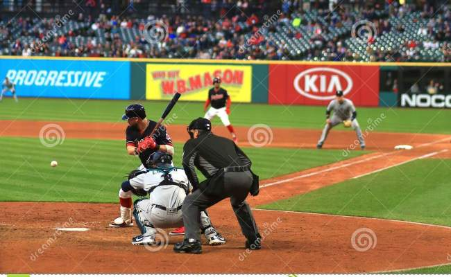 Cleveland Indians Baseball Game Editorial Photography