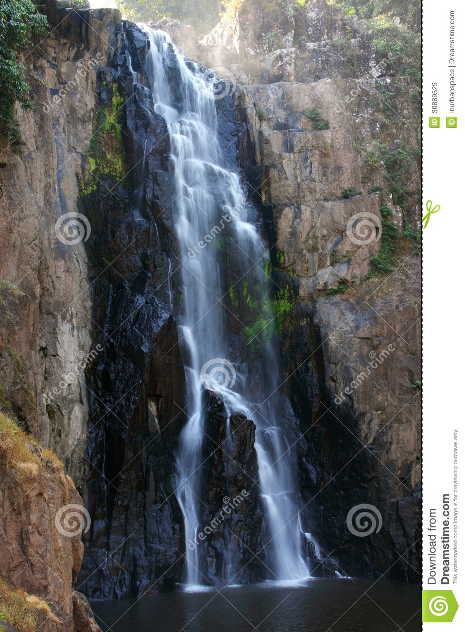 Fall River Wallpaper Cliff Of Waterfall Thailand Stock Image Image 30889529