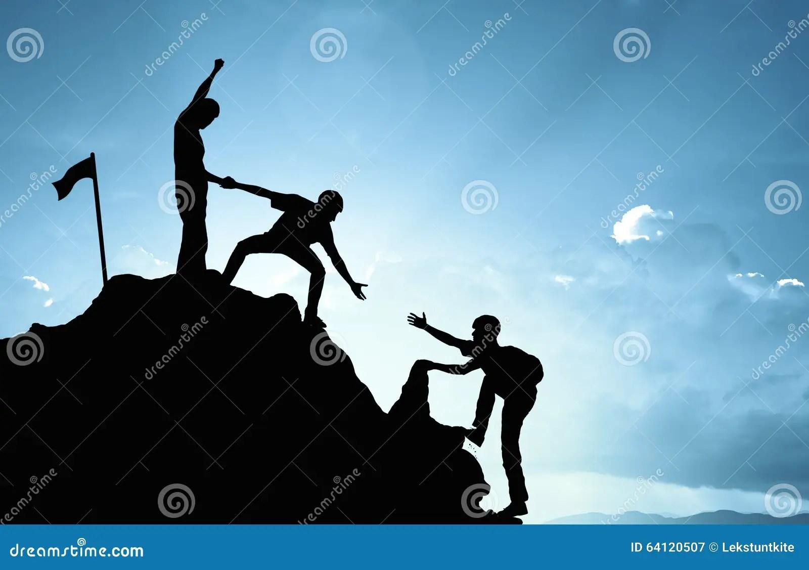 Climbing Helping Team Work Success Concept Stock Image