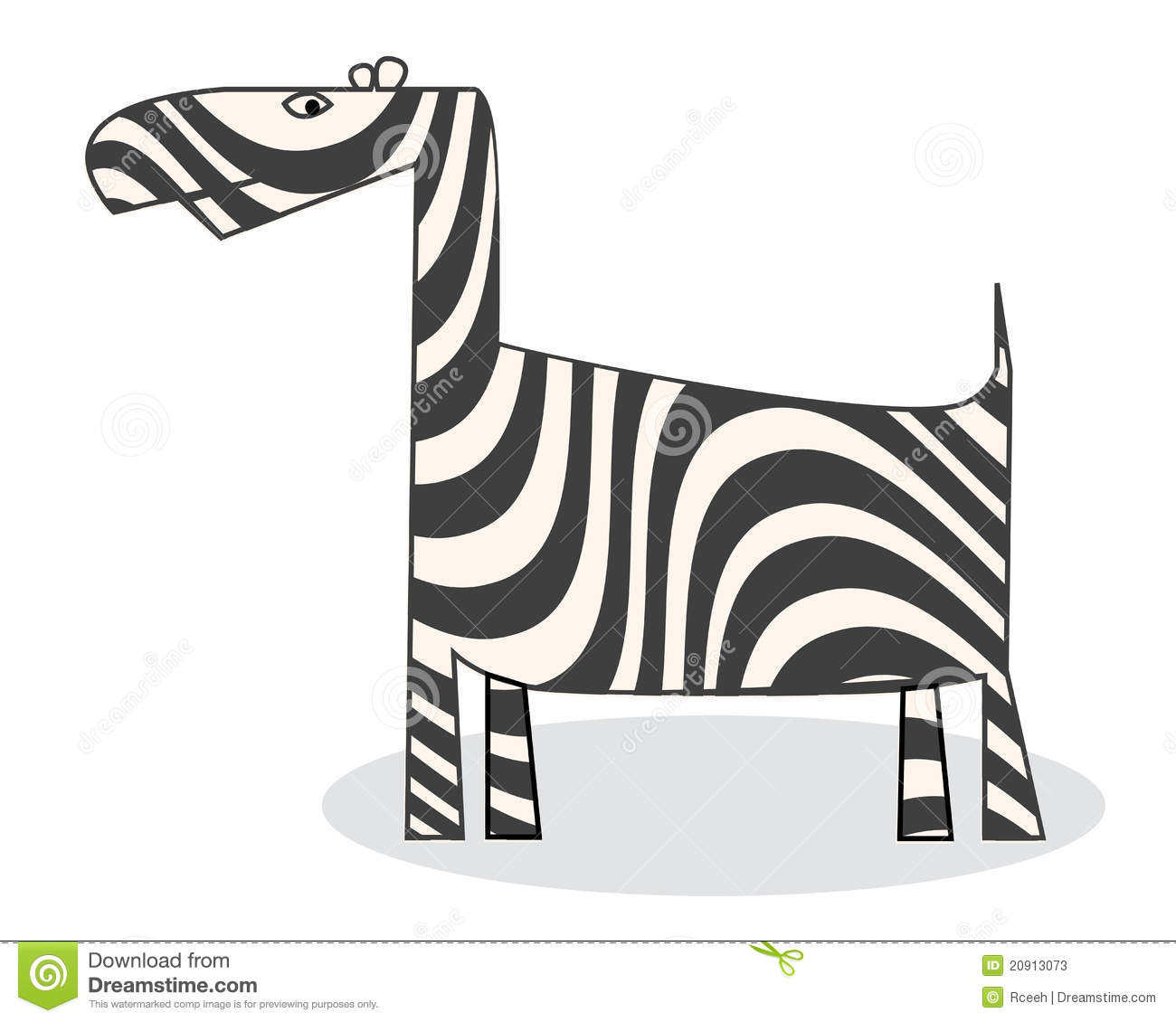 Clip Art Zebra Stock Vector Illustration Of Markings